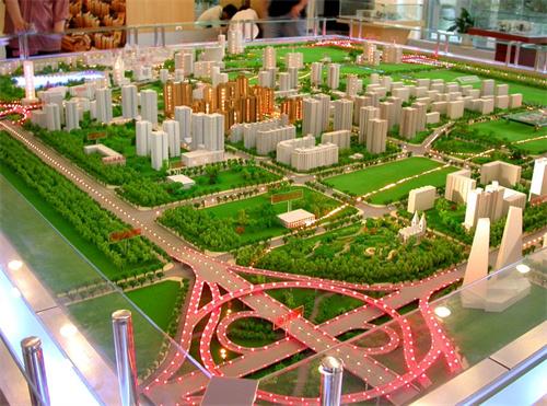 园林沙盘模型模型与工程建筑模型对比有什么特性?