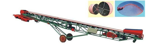 移动式转向带抛粮输送机