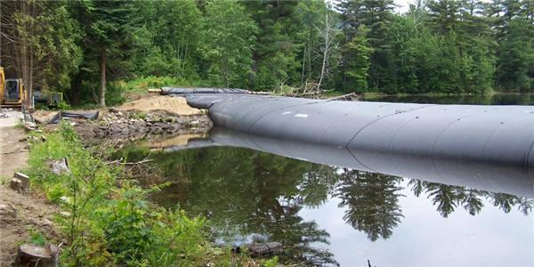 生态充沙式截流围堰坝袋