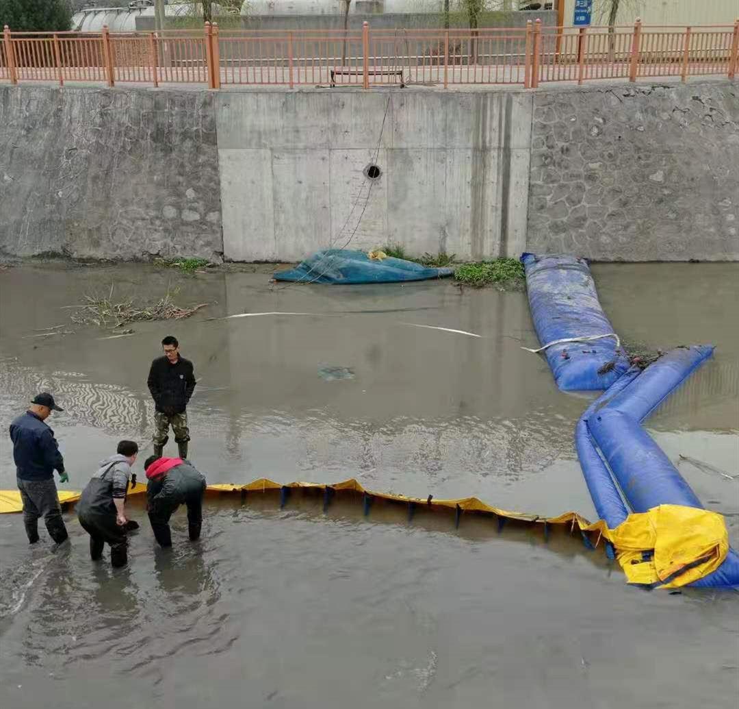 鄠邑区橡胶坝维修围堰施工现场