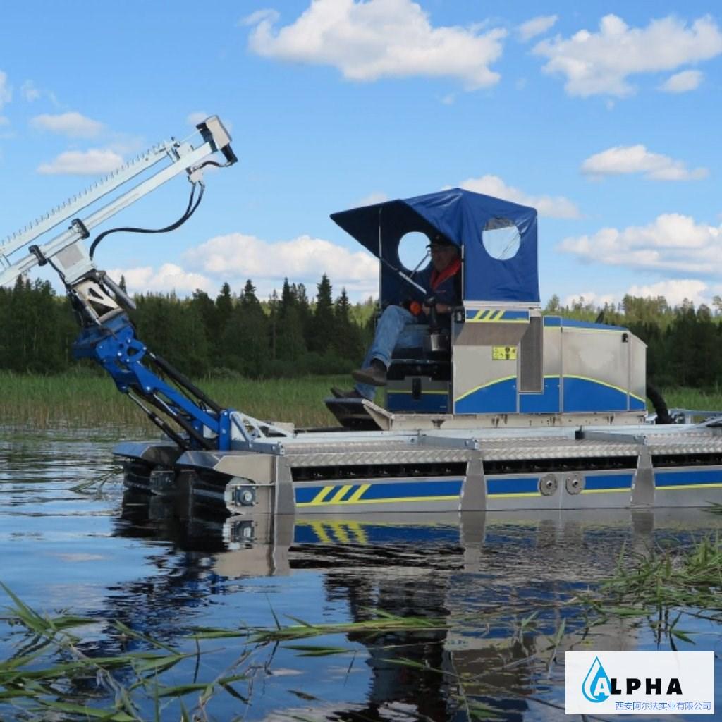 阿尔法水域施工水陆两栖作业船,可灵活近水区域进行各种作业