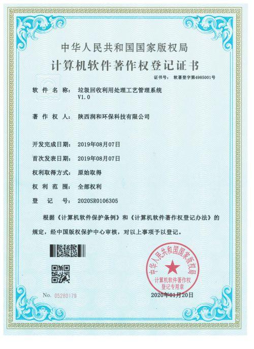 润和登记证书
