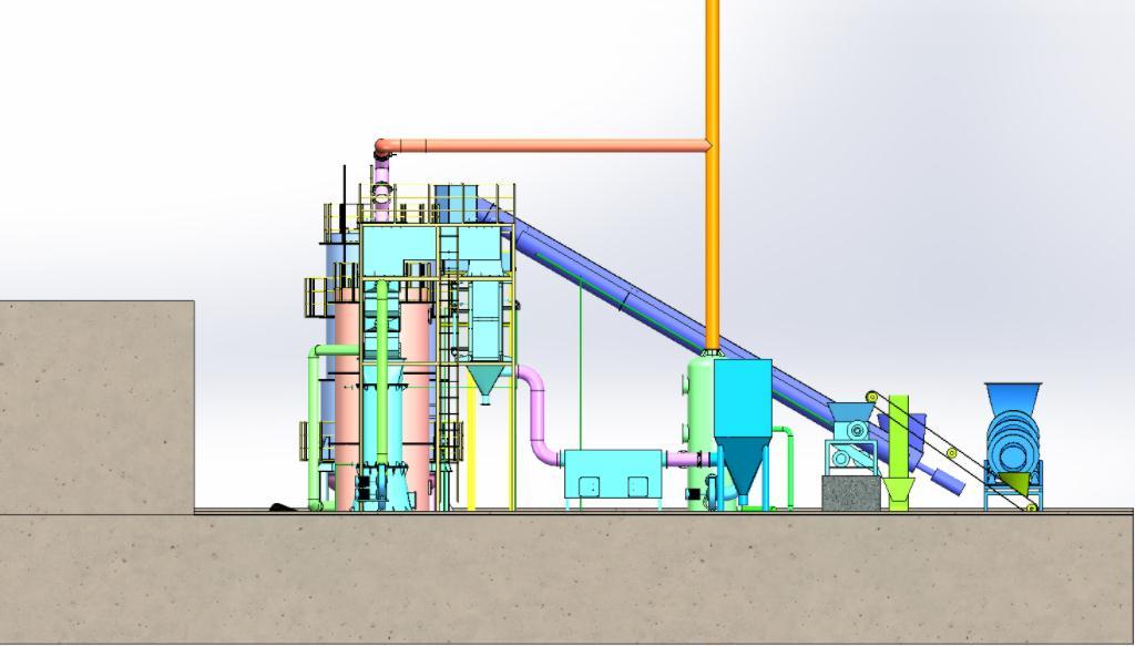 全回收生活垃圾热解气化处理系统由什么组成的?