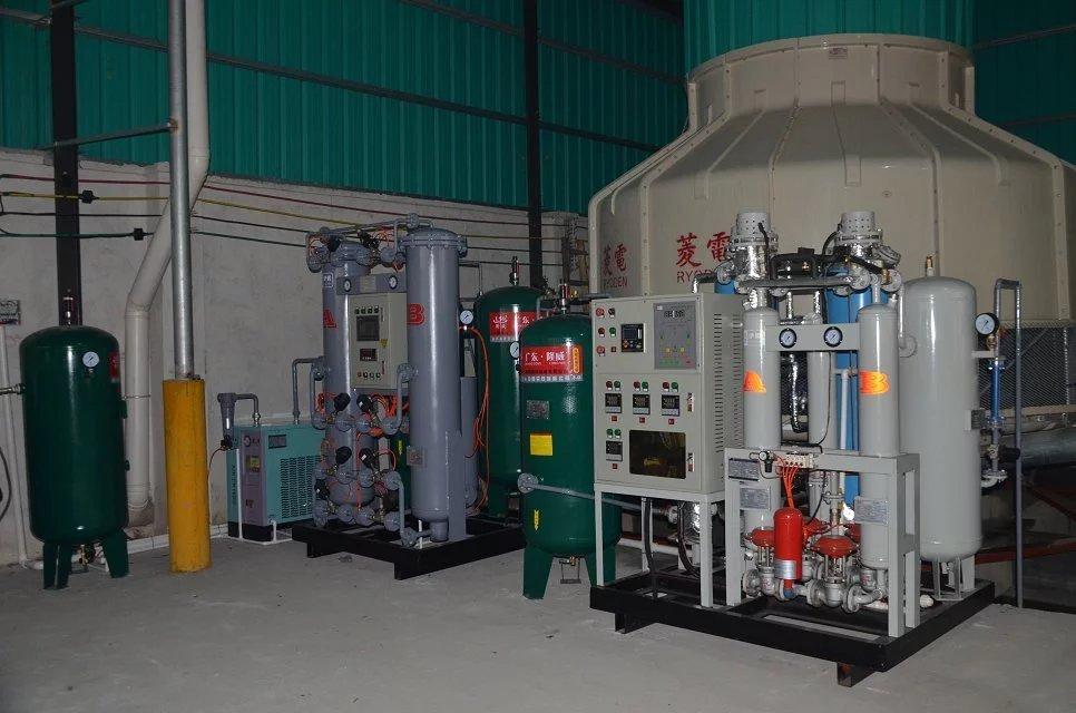 某电子材料企业300立方,纯度99.999%制氮机使用现场