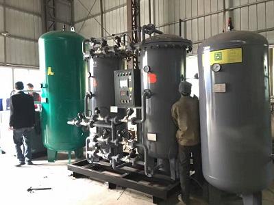 某铜材企业250立方,纯度99.99%变压吸附制氮机安装现场