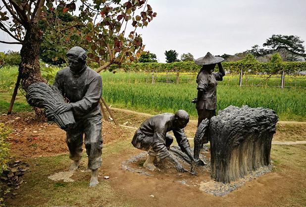 四川农耕雕塑