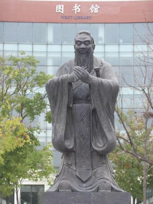 四川校园雕塑-孔子像