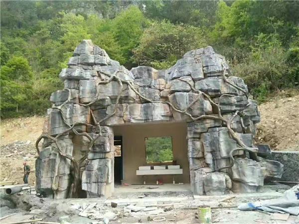四川假山塑石案例