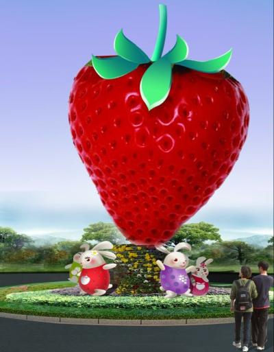水果卡通雕塑