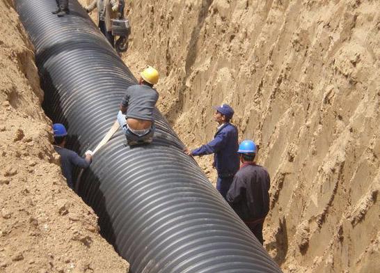钢带增强螺旋波纹管施工案例
