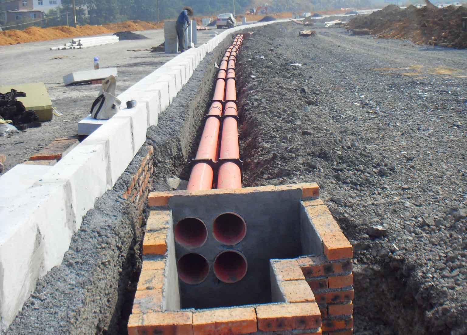 CPVC高压电缆保护管施工案例