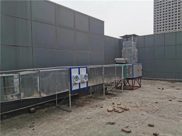 华南城小吃城排烟工程