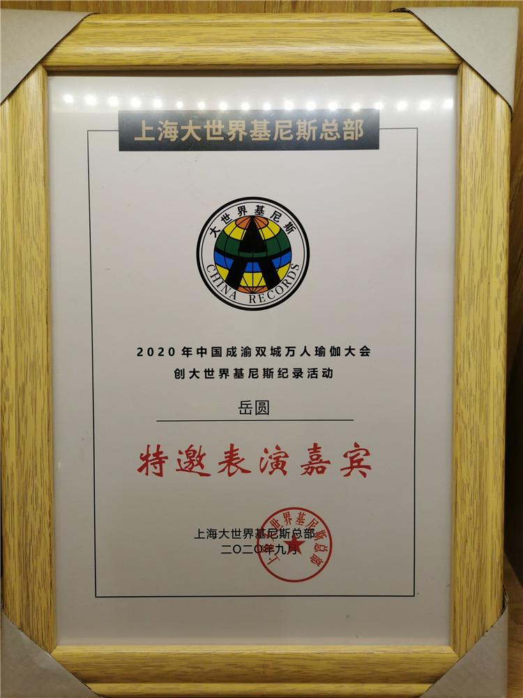 上海大世界吉尼斯总部特邀表演嘉宾--岳圆