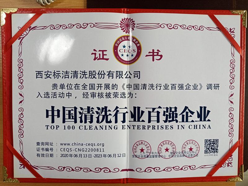 中国清洗行业百强企业