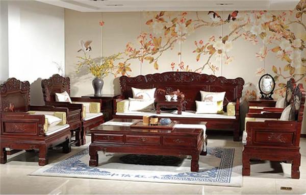 临夏红酸枝前程辉煌沙发