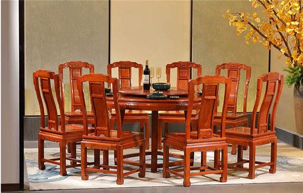 缅甸花梨-合家欢圆桌