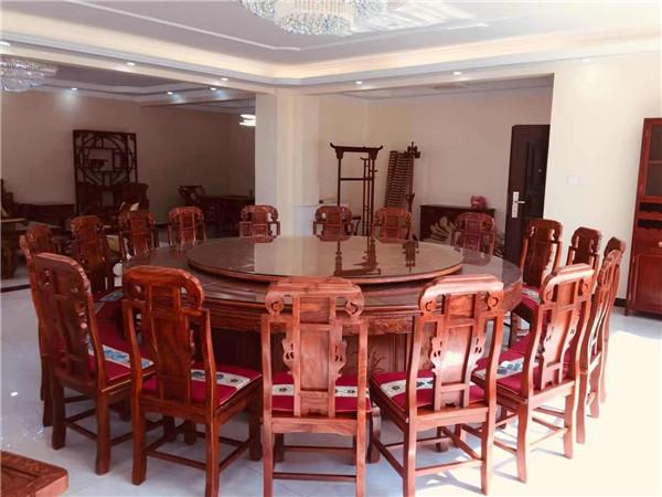 延安客户红木餐桌定制案例