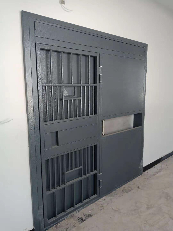 手动平移监室门嵌入式安装