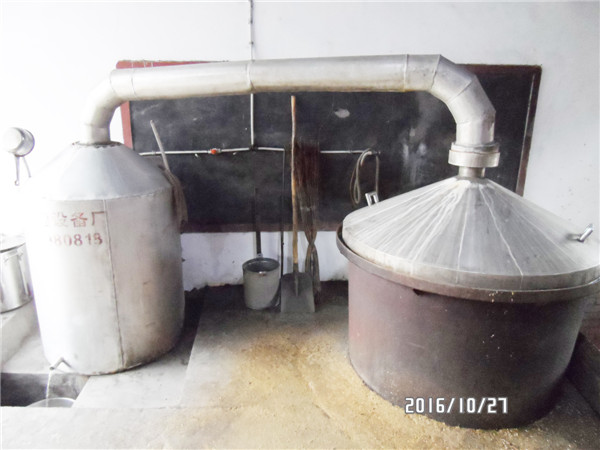 西安市鄠邑区龙窝兴龙酒厂酿酒生产设备展示