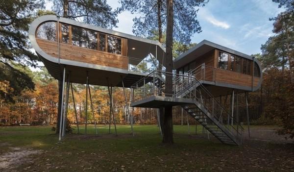 树屋,钢木结构