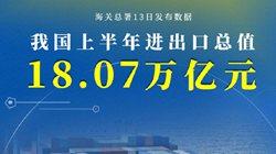 增长27.1%,我国上半年进出口总值18.07万亿元