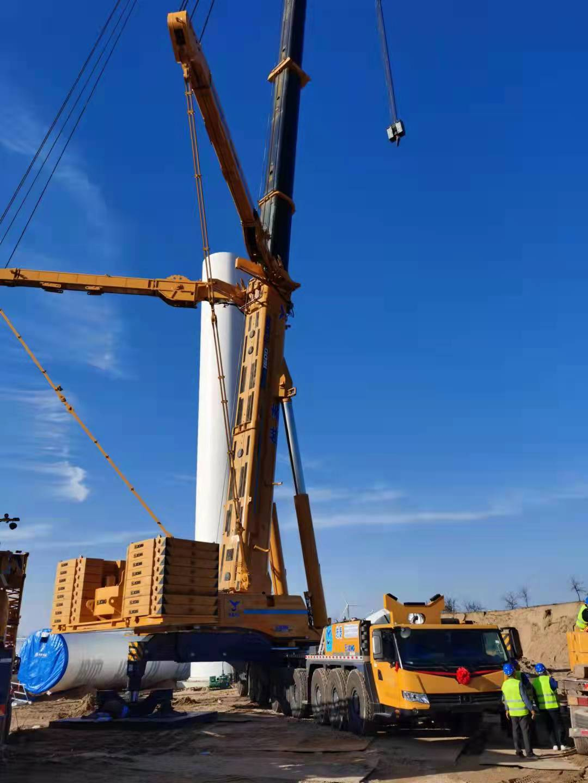 1600吨第三台车在陕西渭南风电吊装