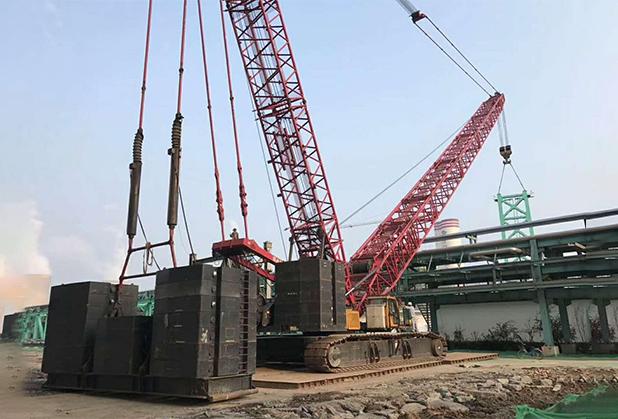 四川履带吊装600吨