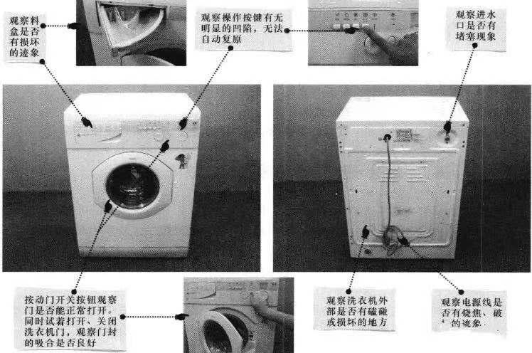 洗衣机维修常用方法介绍。