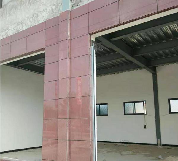 淇县某厂家宝石红板材合作案例