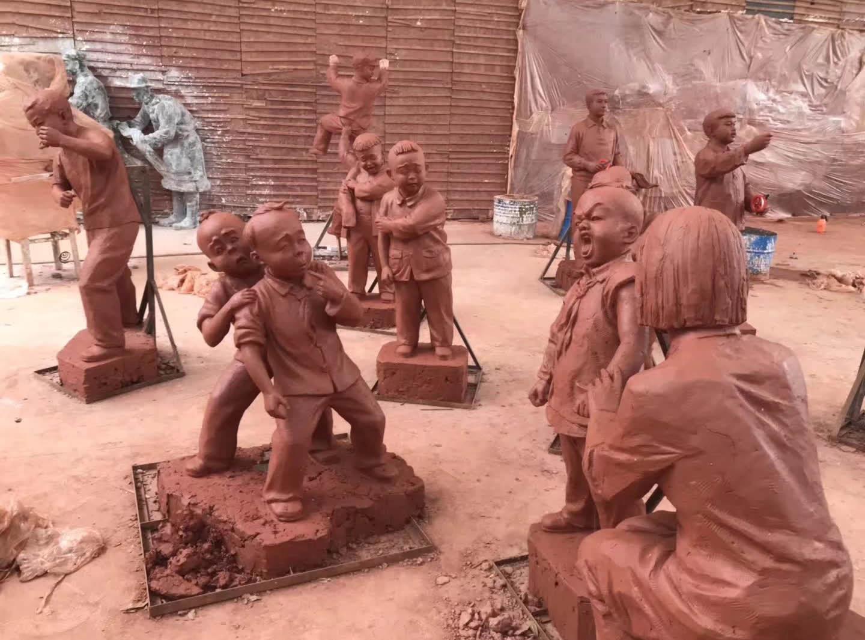 雕塑制作现场