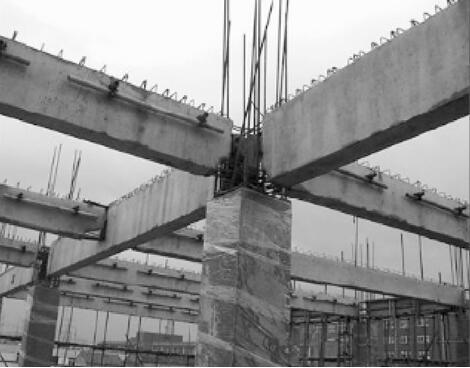 柱与梁在柱的支座部位连接实例