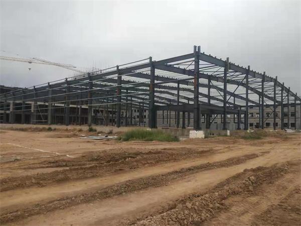 钢结构厂房建造项目进度拍摄