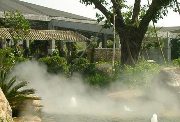 四川人工造雾如何运用在园林景观?