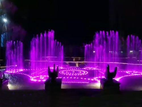 四川音乐喷泉工程施工成功案例