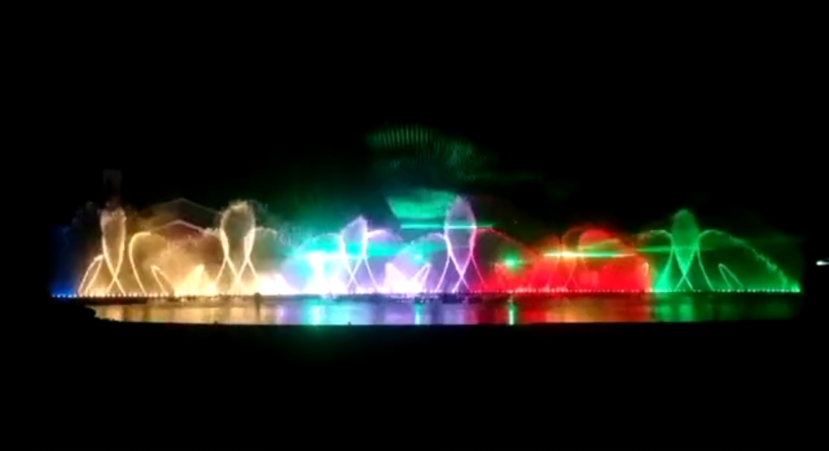 四川音乐喷泉完工展示