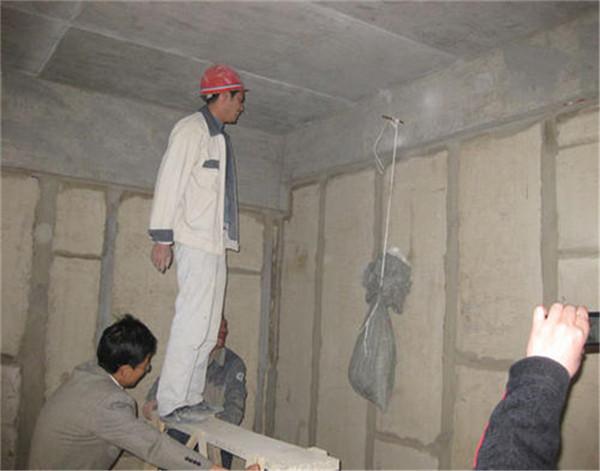 西安陶粒隔墙板安装施工现场