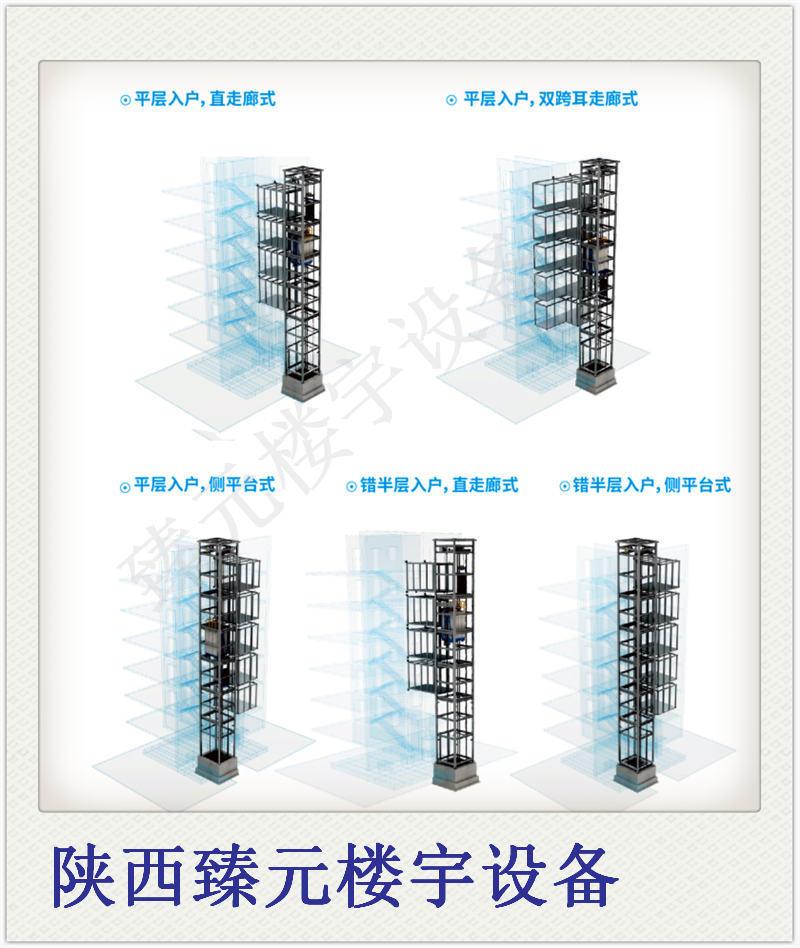旧楼加装电梯钢结构方案图