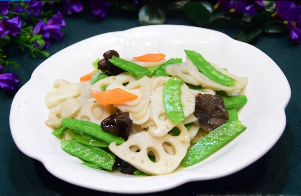 扁豆炒藕片