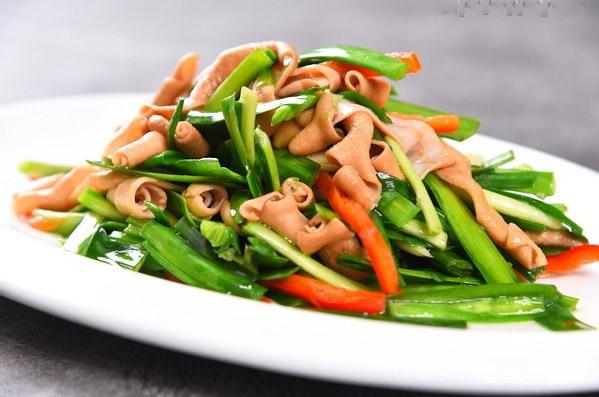 鸭肠炒韭菜