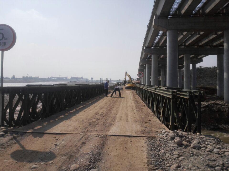 貝雷橋的設備施工流程
