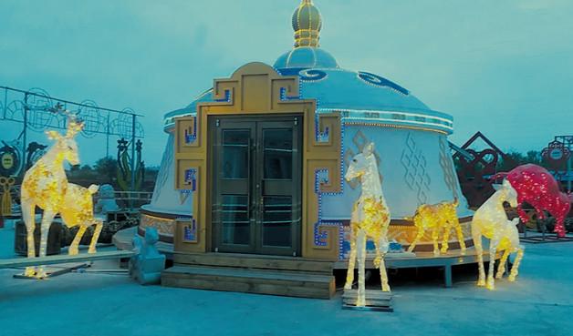 夜景装配式蒙古包 景区观光蒙古包定制厂家
