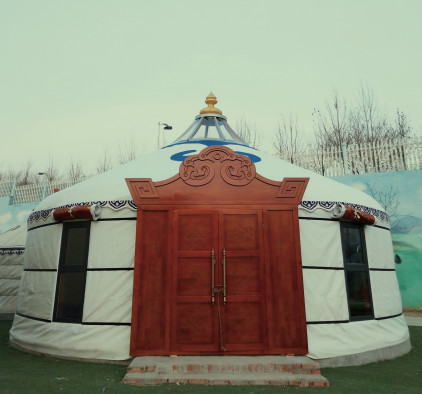 农家乐蒙古包 传统高档蒙古包定制安装
