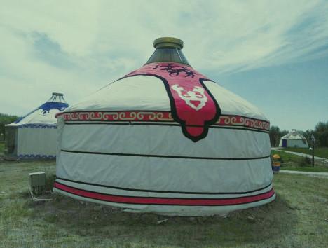陕西传统蒙古包  户外农家乐住宿蒙古包定制