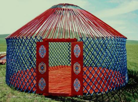 内蒙古户外蒙古包帐篷 农家乐餐饮住宿蒙古包厂家