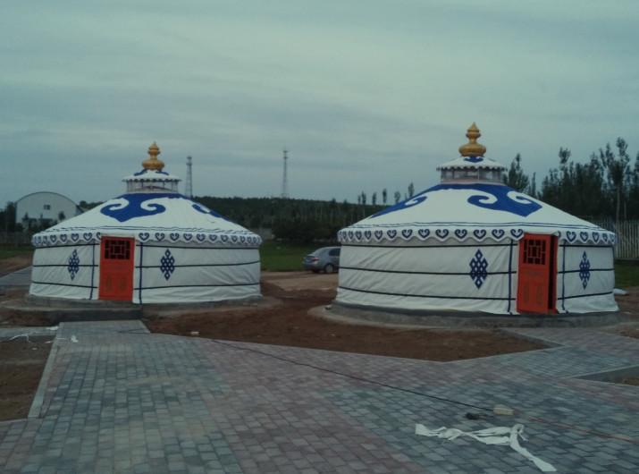 蒙古包安装完成