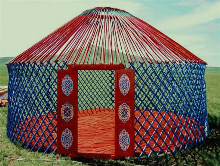 蒙古包安装现场