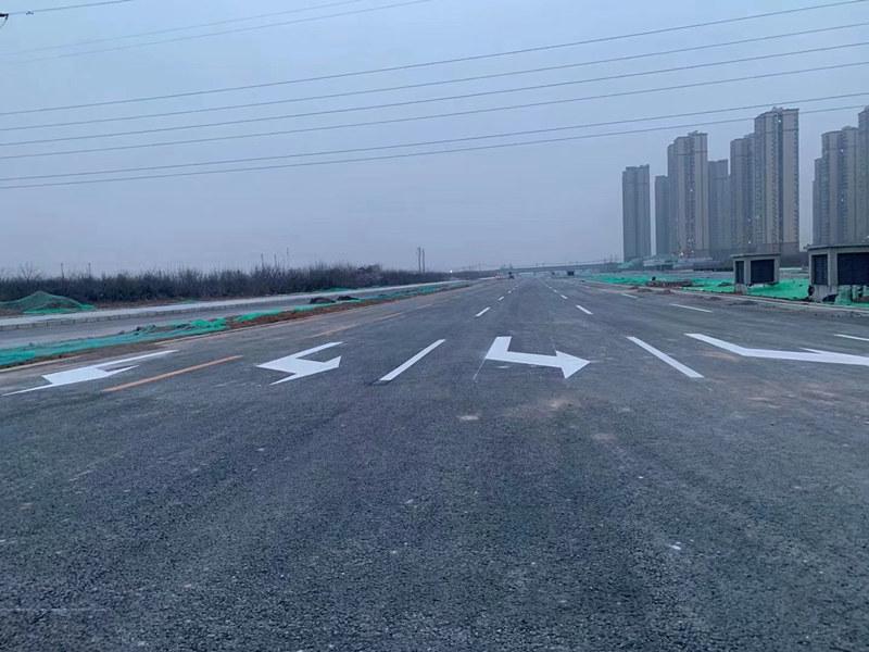 陕西道路划线喷涂工程