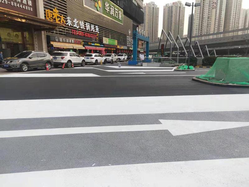 莱安逸境商业街透水混凝土地坪施工案例