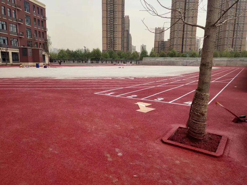 西安西京学院附属小学塑胶跑道案例