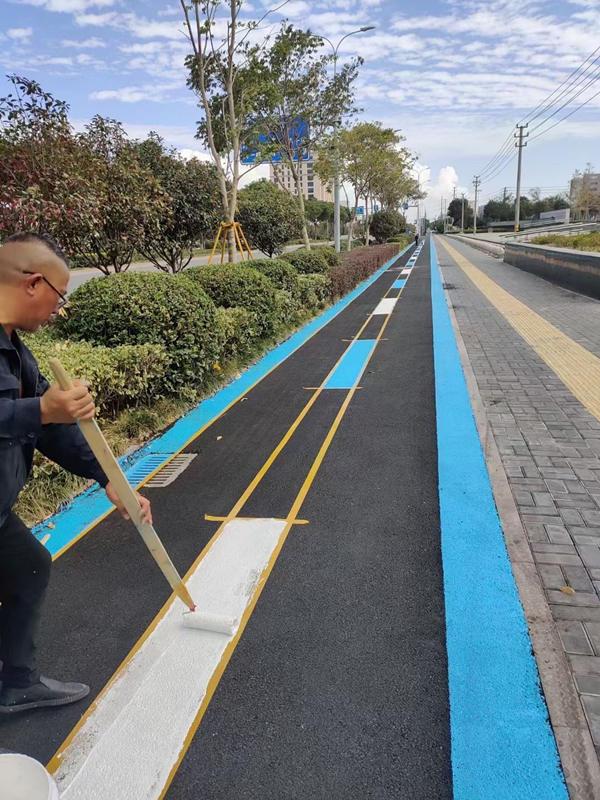 马路划线施工